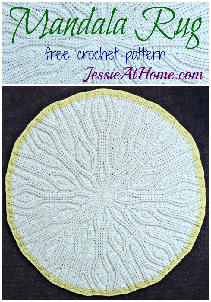 Mandala Rug - free crochet pattern by Jessie At Home