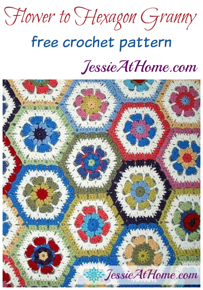 Flower Hexagon Granny How To Free Crochet Pattern Jessie At Home