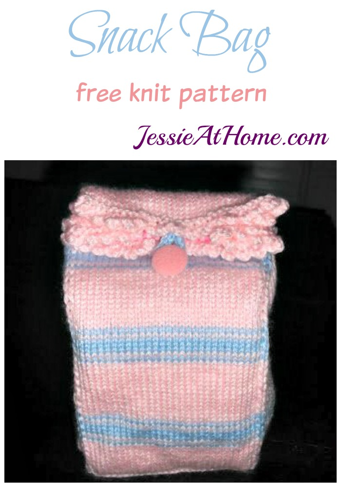 Snack Bag free knit pattern by Jessie At Home