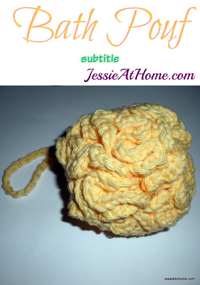 Bath Pouf crochet pattern by Jessie At Home