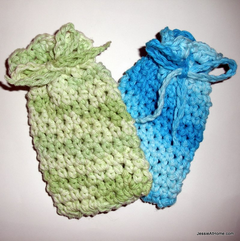 Free Crochet Patterns For The Home : Soap Bag ~ Spa Set Jessie At Home