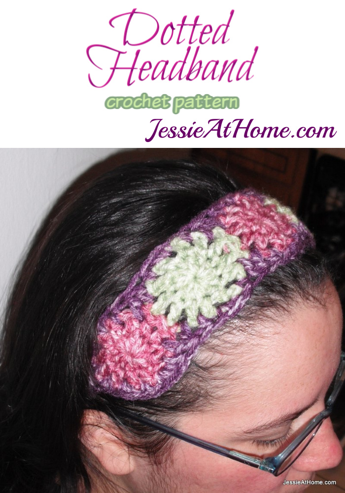 Dotted Headband crochet pattern by Jessie At Home