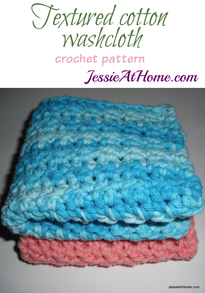 Textured cotton washcloth - Pin