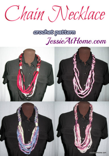 Chain Necklace crochet pattern by Jessie At Home
