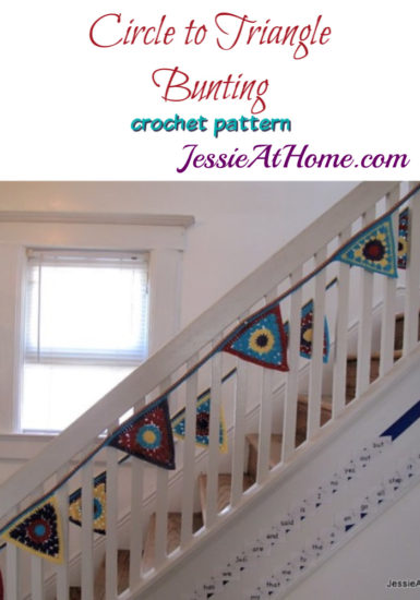 Circle to Triangle Bunting crochet pattern by Jessie At Home