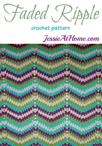 Faded Ripple crochet pattern by Jessie At Home