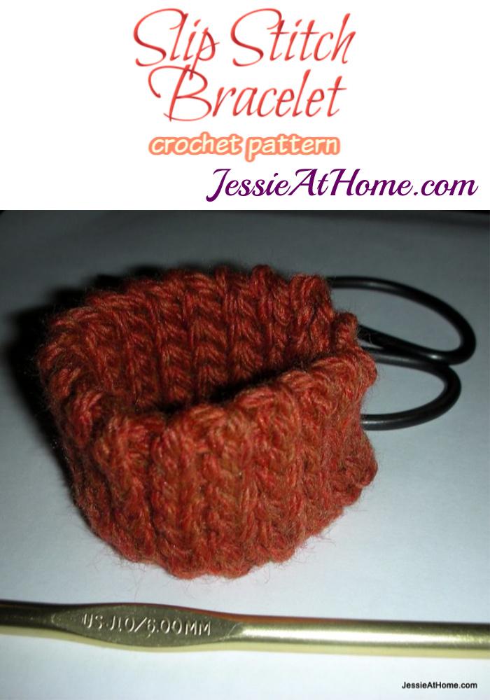 Slip Stitch Bracelet crochet pattern by Jessie At Home