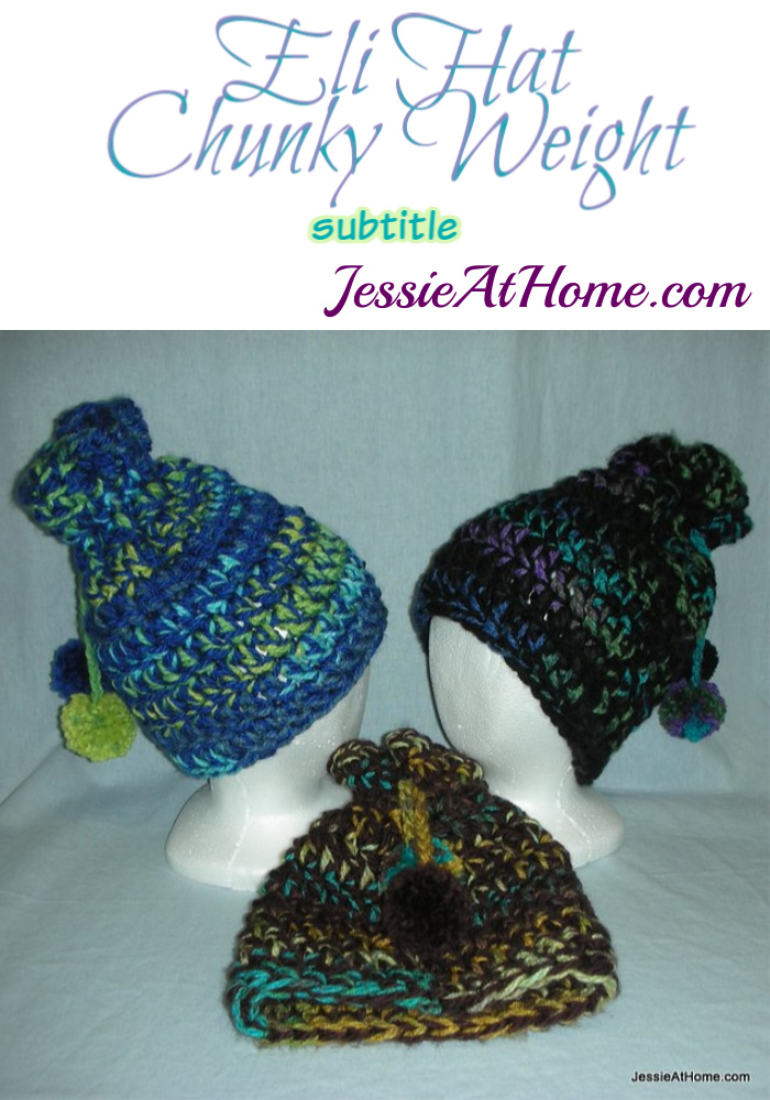 Eli Hat - Chunky Weight crochet pattern by Jessie At Home