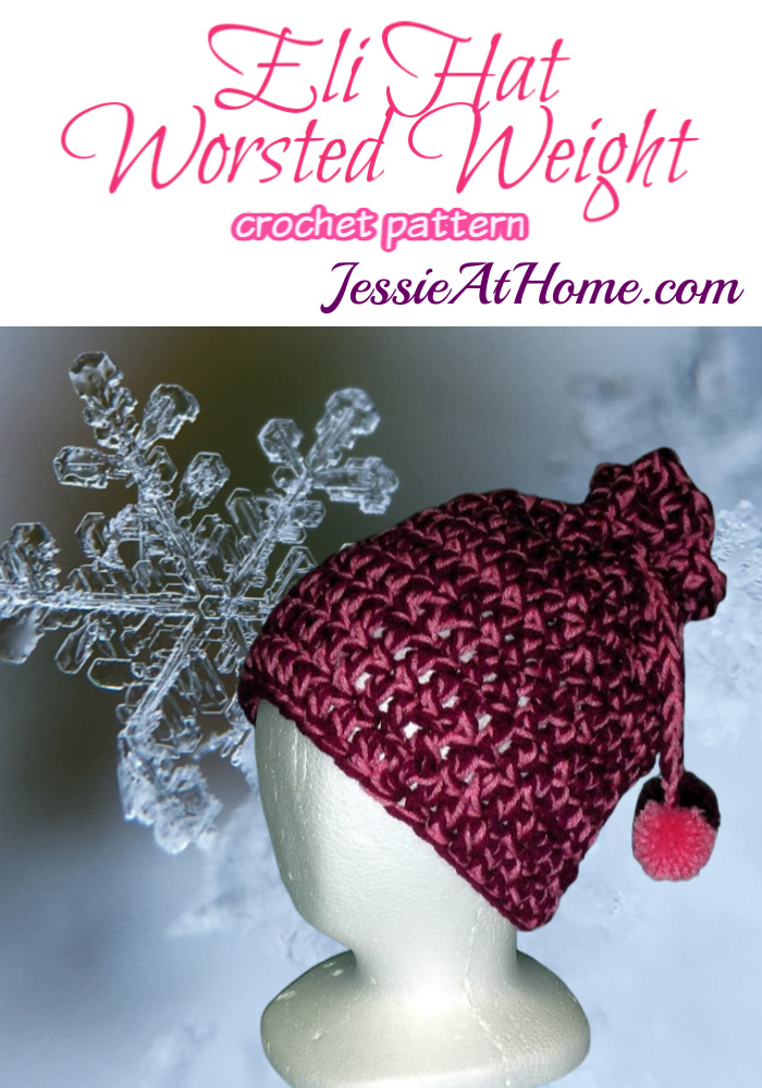 Eli Hat - Worsted Weight crochet pattern by Jessie At Home