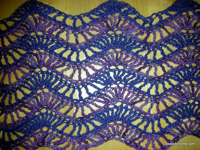 Extended-Ripple-Free-Crochet-Pattern-Sock-Weight-Close-Up