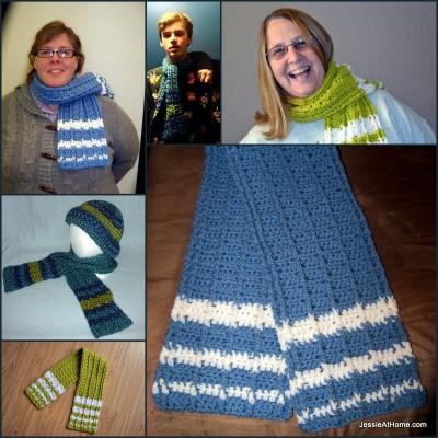 Raised-Stripes-Scarf-Free-Crochet-Pattern