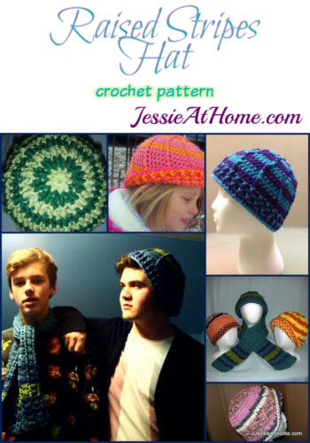Raised Stripes Hat crochet pattern by Jessie At Home