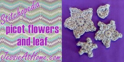 Stitchopedia-picot-flowers-and-leaf