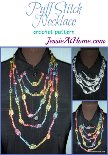 Free-Crochet-Puff-Stitch-Necklace-3-lengths crochet pattern by Jessie At Home