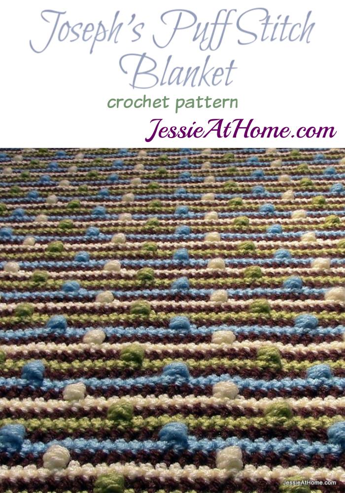 Joseph's Puff Stitch Blanket crochet pattern by Jessie At Home