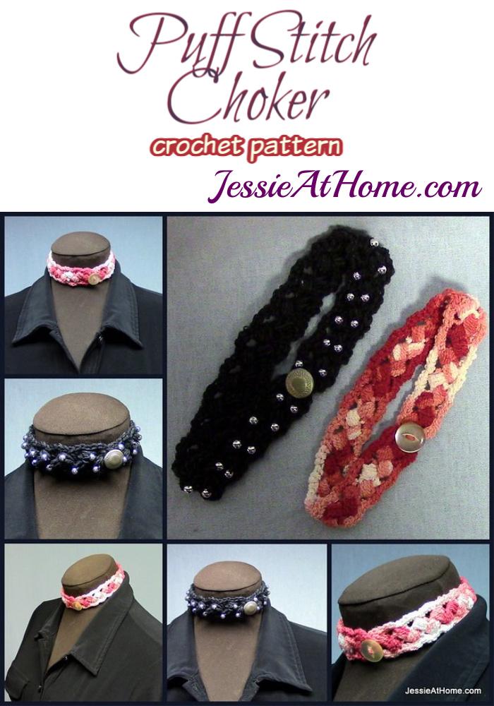 Puff Stitch Choker crochet pattern by Jessie At Home