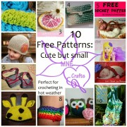Cute But Small - 10 Free Patterns Perfect for Summer ~ from MNE Crafts