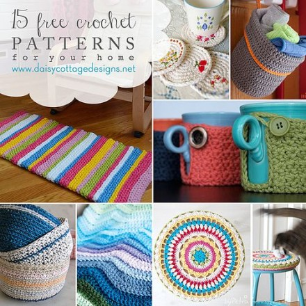 15 Free Crochet Patterns for the Home