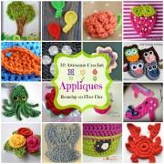 30 Awesome Appliques! A Crochet Applique Roundup By Fiber Flux