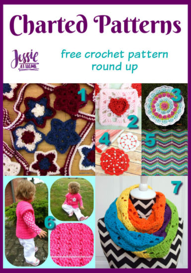 Charted Crochet Patterns free crochet round up from Jessie At Home - Pin 1