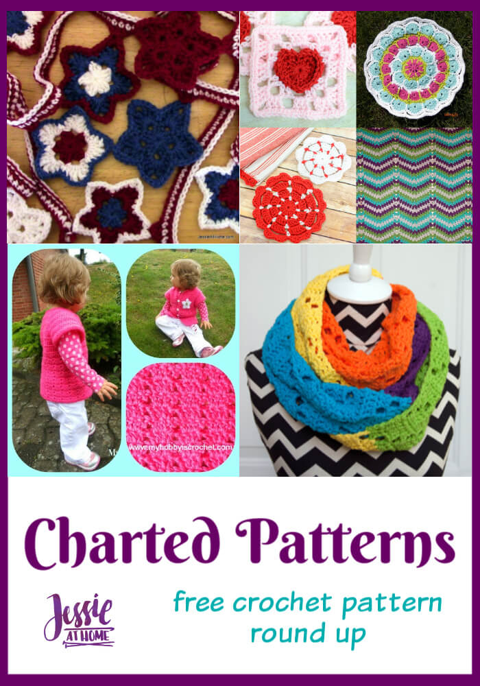 Charted Crochet Patterns - round up of free crochet patterns that include charts