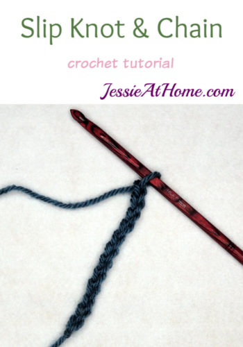 Slip Knot and Crochet Chain Tutorial with Jessie At Home
