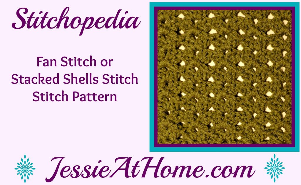 Stitchopedia Fan Stitch from Jessie At Home video covers