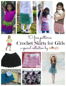 10 Sweet Crochet Skirt Patterns for Girls!