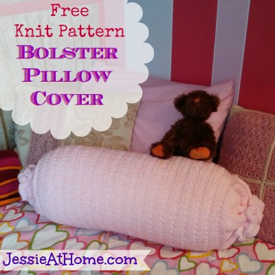 Free-Knit-Pattern-Bolster-Pillow-Cover