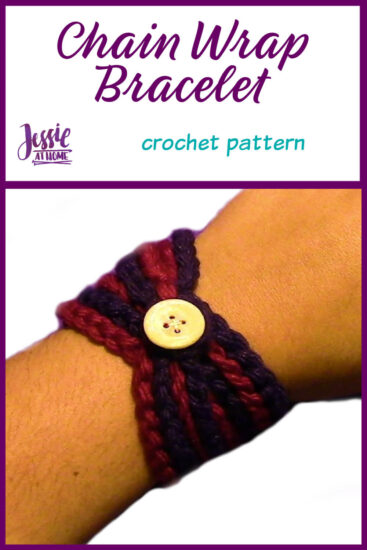 Chain Wrap Bracelet Crochet Pattern by Jessie At Home - Pin 1