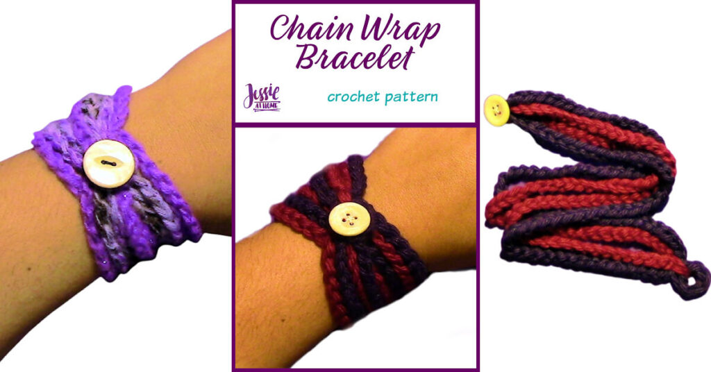 Chain Wrap Bracelet Crochet Pattern by Jessie At Home - Social