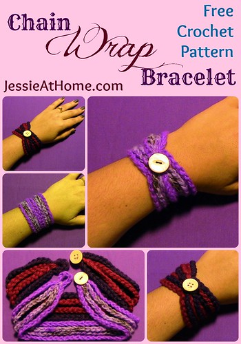 Chain Wrap Bracelet crochet pattern by Jessie At Home