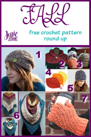 Fall Crochet Pattern Round Up from Jessie At Home - Pin 1