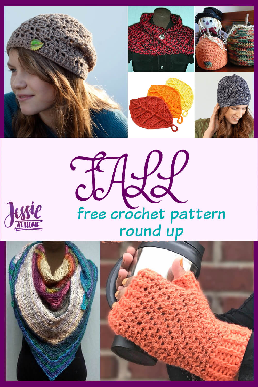 Fall Crochet Pattern Round Up - get in the autumn spirit