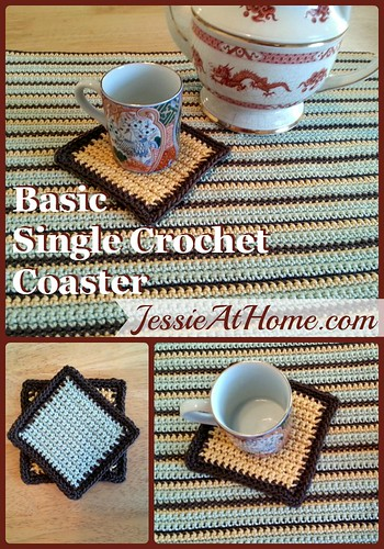 Basic Single Crochet Coaster crochet pattern by Jessie At Home