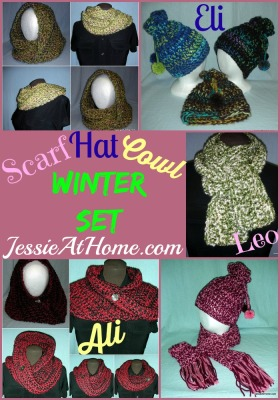 Winter Set Crochet Patterns by Jessie At Home