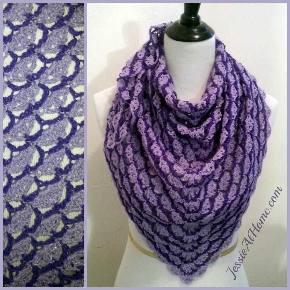Lavender Blooms Shawl ~ Free Crochet Pattern