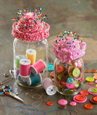 Pin-Cushion Jar Topper