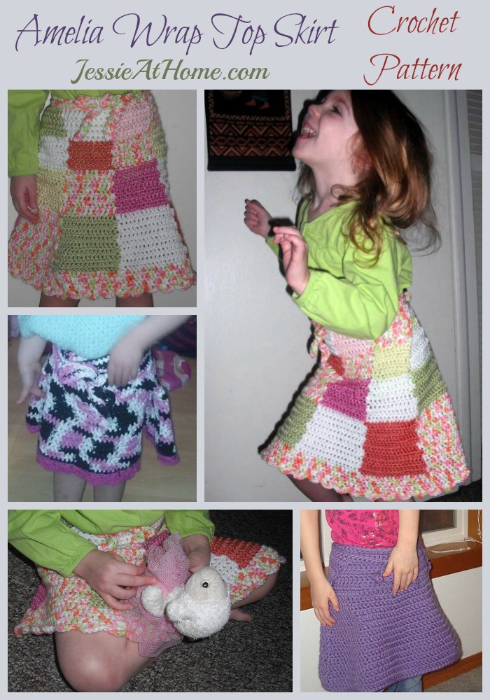 Amelia Wrap Top Skirt Crochet Pattern by Jessie At Home