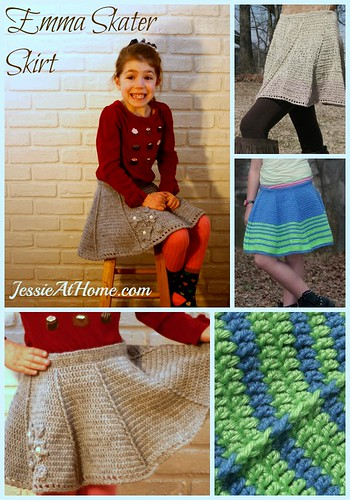 Emma Skater Skirt crochet pattern by Jessie At Home