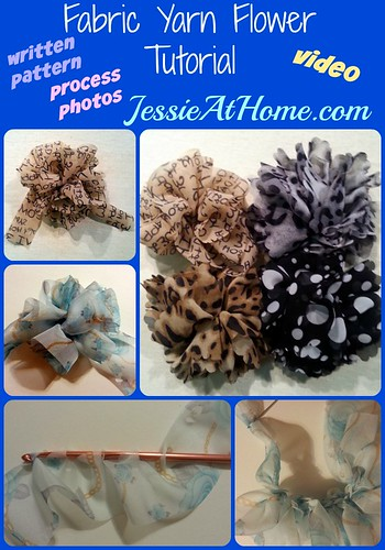 Fabric Yarn Flower crochet pattern by Jessie At Home