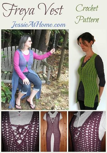 Freya Vest crochet pattern by Jessie At Home