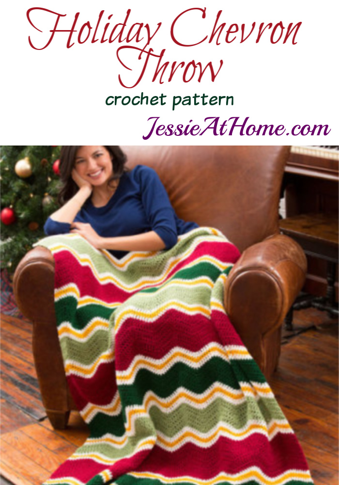 Holiday Chevron Throw crochet patern by Jessie Rayot for Red Heart