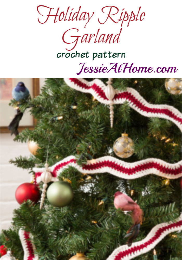 Holiday Ripple Garland crochet pattern by Jessie At Home