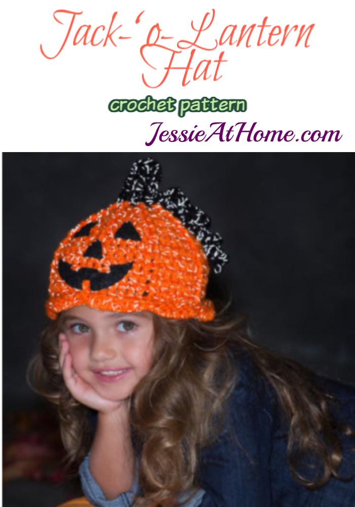 Jack-'o-Lantern Hat crochet pattern by Jessie At Home