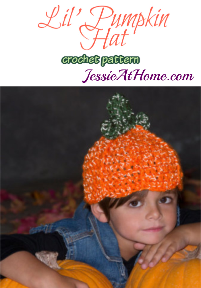 Lil' Pumpkin Hat crochet pattern by Jessie At Home