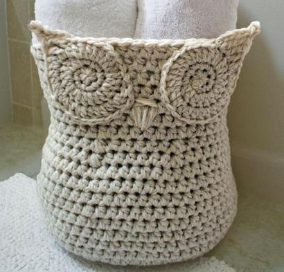 Owl Basket Bluprint Crochet Kit