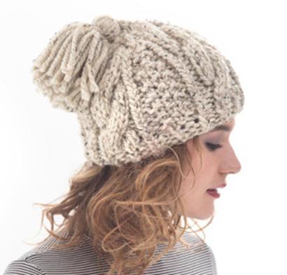 Cabled Tassel Hat Kit