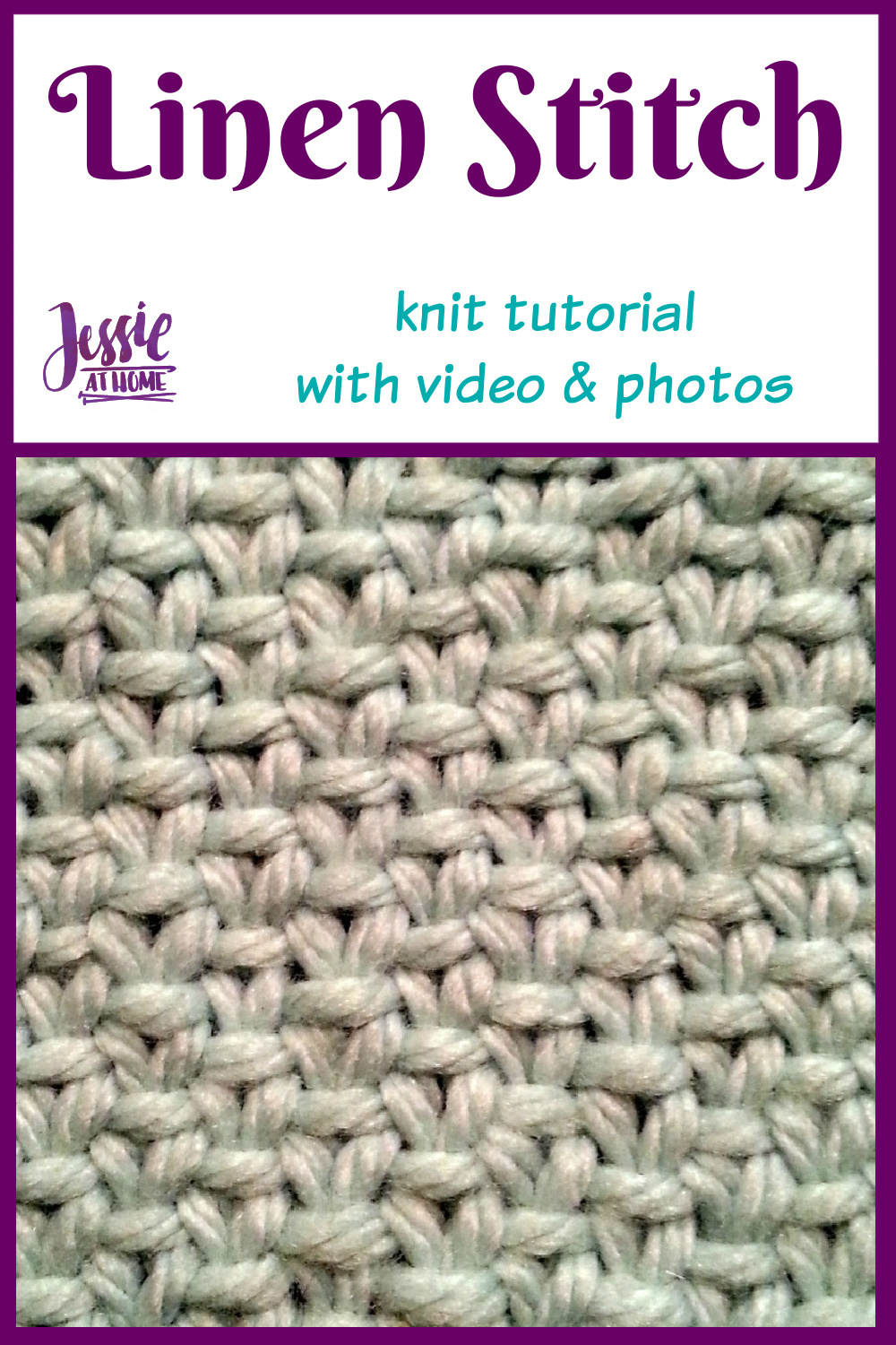 Linen Stitch Tutorial with Video