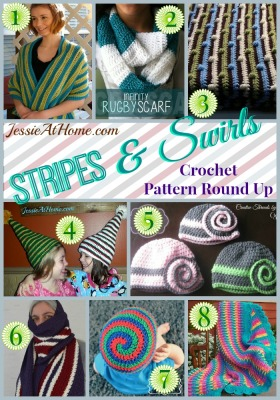 Stripes and Swirls Crochet Pattern Round Up from Jessie At Home